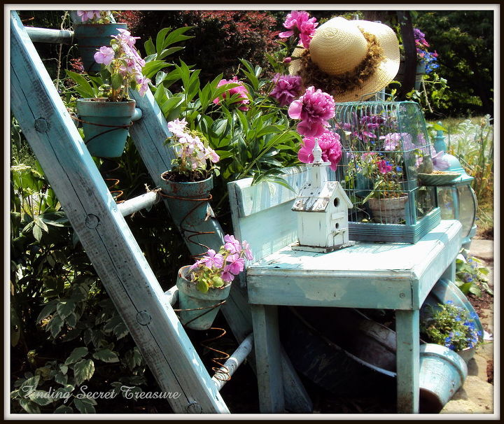 decorating my yard budget friendly way to bring color to your landscape use your, flowers, gardening, repurposing upcycling