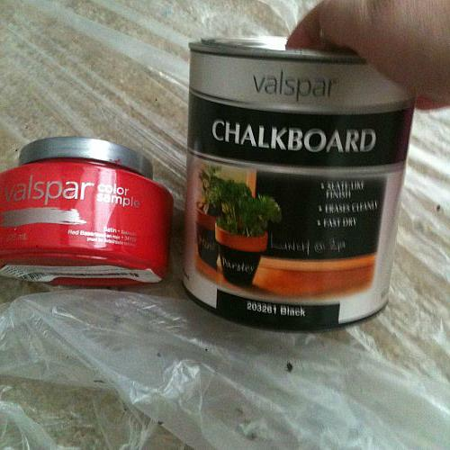 """these are the paints i bought for it. im not real pleased with the """"red"""" color. it turned out way too pink!!! I need serious help!!"""