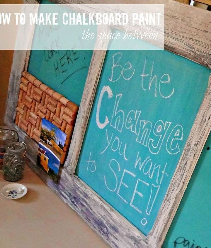 i just figured out how to make my own chalkboard paint in any color so many, chalkboard paint, crafts, painting