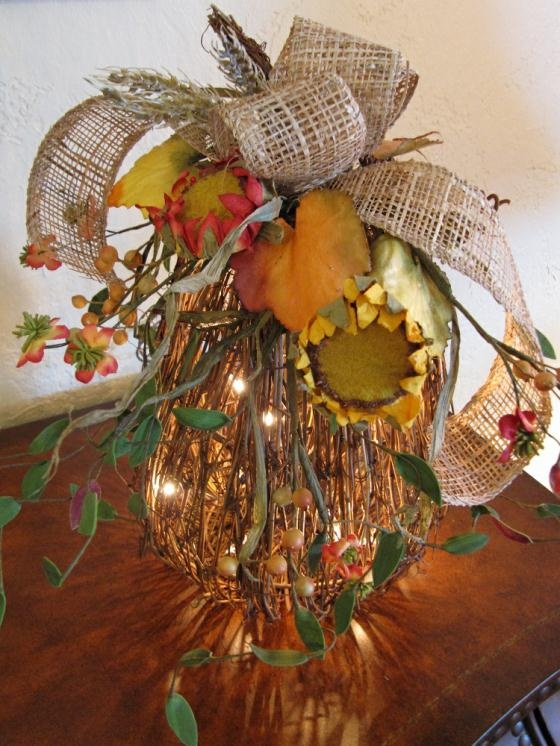 budget friendly fall decor, crafts, mason jars, outdoor living, seasonal holiday decor, wreaths, Adding mini lights will add a warm ambiance to any fall decor Christmas Lights Etc carries a variety of battery operated lights that would work great for a project like this