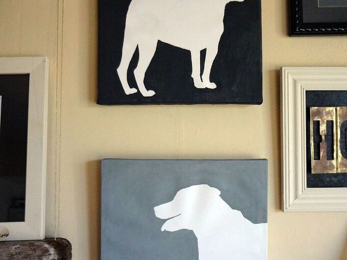 i had so much fun taking two fugly canvases i bought at goodwill and turning them, home decor