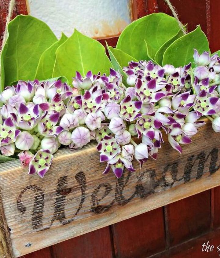 create a welcome flower box for your front door with this cost effective image transfer technique
