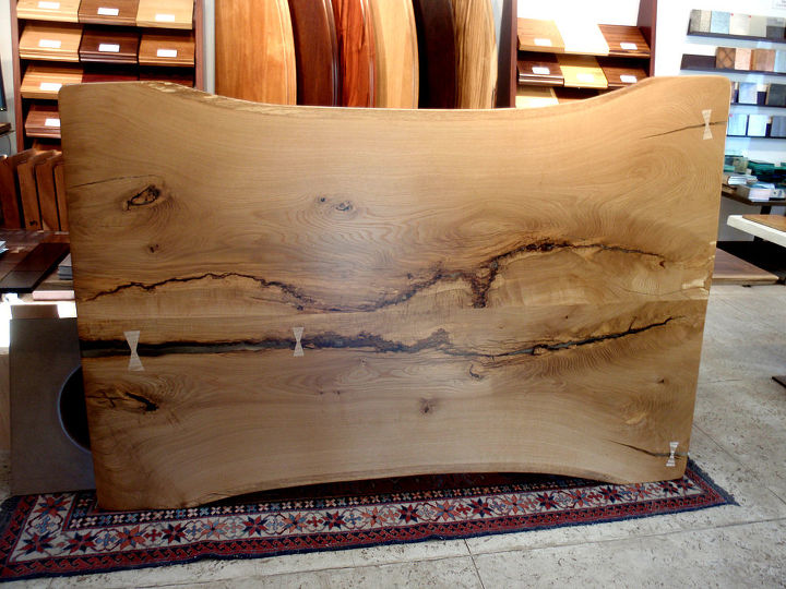 more great live edge, painted furniture, woodworking projects, White Oak Live Edge
