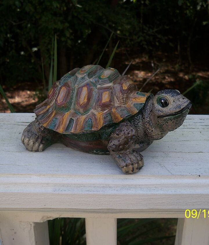 LAST BUT NOT LEAST - this was the first of the turtles I repainted. He's probably the most realistic - but who cares,