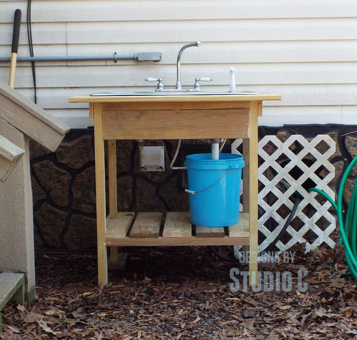 Build an Outdoor Sink and Connect It to the Outdoor Spigot ... on Outdoor Sink With Stand id=86540