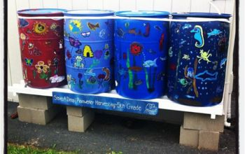 Water Your Garden, Save Money and Live Green with a Rain Barrel!
