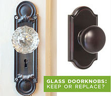q vintage glass doorknobs keep or replace, repurposing upcycling, windows