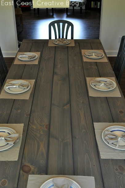Modern Meets Rustic Farmhouse Table http://www.eastcoastcreativeblog.com/2011/07/farmhouse-table-remix-tutorial.html