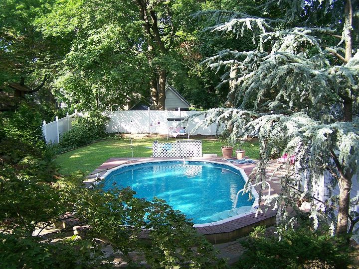 from carriage house to cabana, outdoor living, patio, pool designs, The view from the third floor
