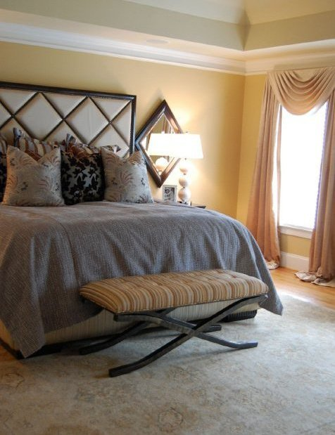 A Master Bedroom -  Soft, soothing colors were incorporated