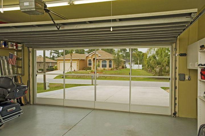 Inside view of garage screen