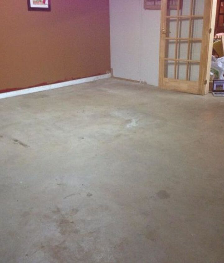 To start I swept and mopped the existing concrete.