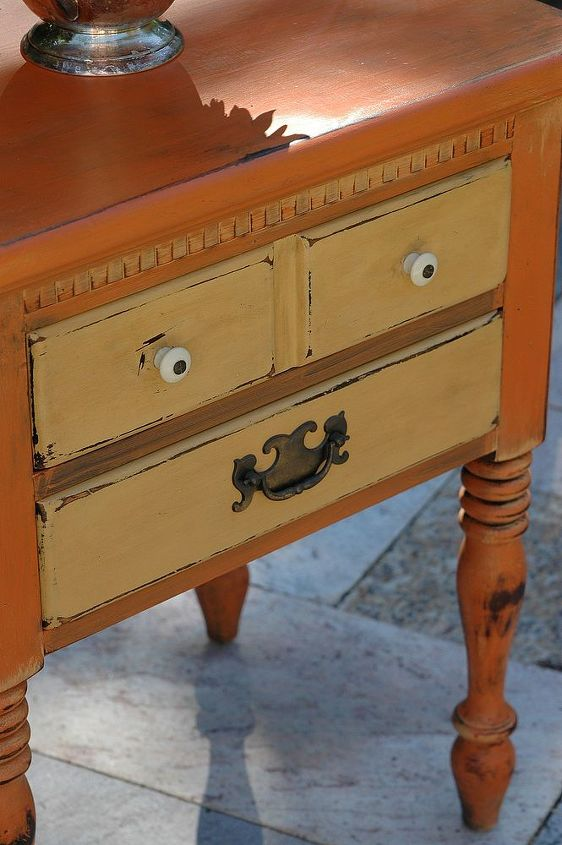 annie sloan chalk paint hand painted bedside table, chalk paint, painted furniture