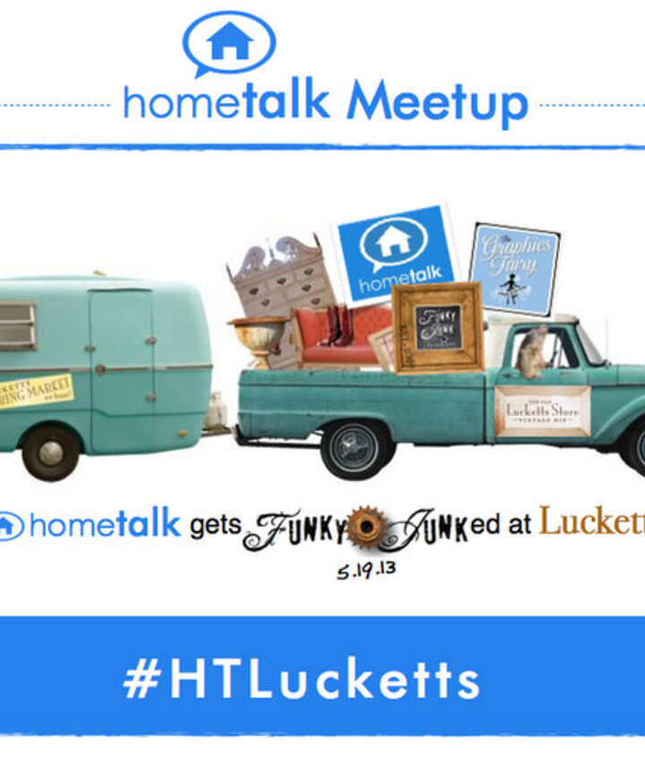The Lucketts Spring Market is legendary! While it's a 2 day event, the Hometalk Meetup is Sunday, May 19th only. Come Sunday! :)