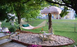 spring is coming can t wait to hit my hammock in my own backyard beach, outdoor living, My Backyard Beach in Chicago