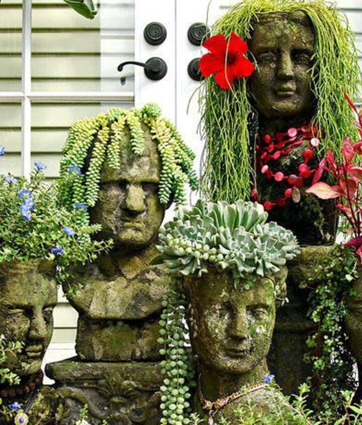 I must have something like this in my future garden. I have seen this before in Magazines and have tried to research on where to find them.  Would anyone happen to know where to find planters like these?