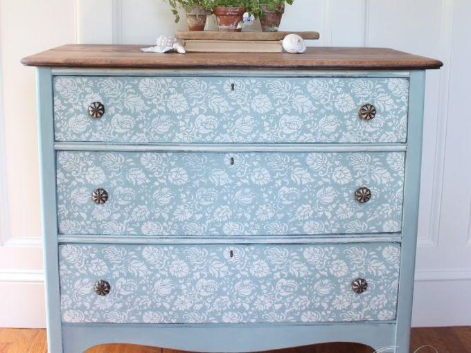 fleur chalk paint dresser, chalk paint, painted furniture