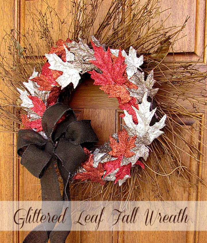 Glittered fall leaf Wreath