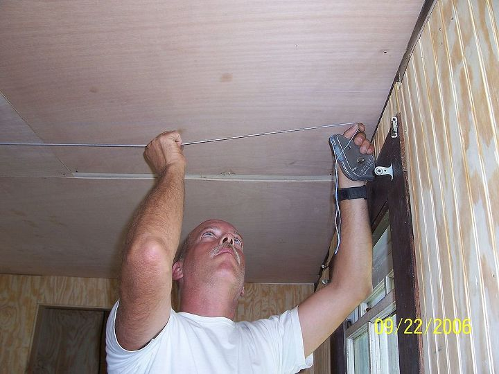 Finding the center of room so ceiling tiles can start at center and be perfect design.