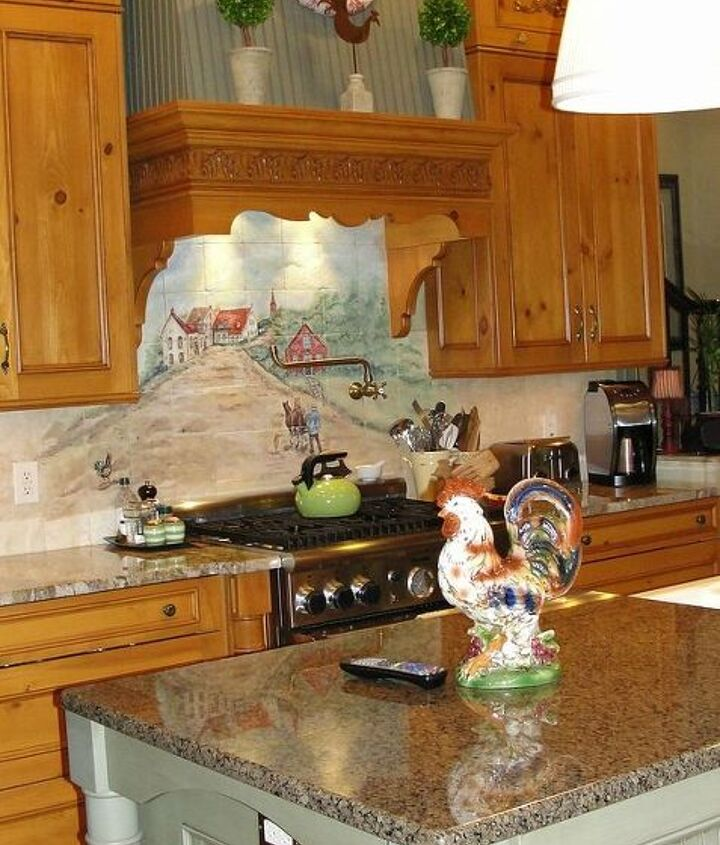 We used 2 types of granite in the space.  I do find that lighter colored granite shows less in terms of fingerprints.