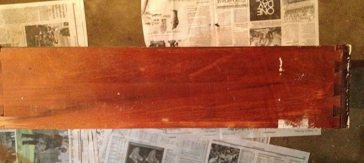 desk refinishing project, painted furniture