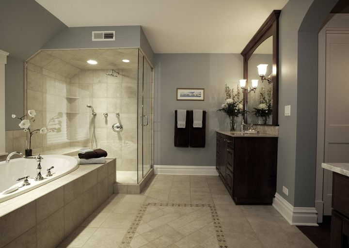 tired of whites amp beiges as neutrals try these 4 hot new paint colors for your, home decor, Grays can be very calming in the bathroom