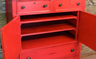 antique dresser makeover, painted furniture
