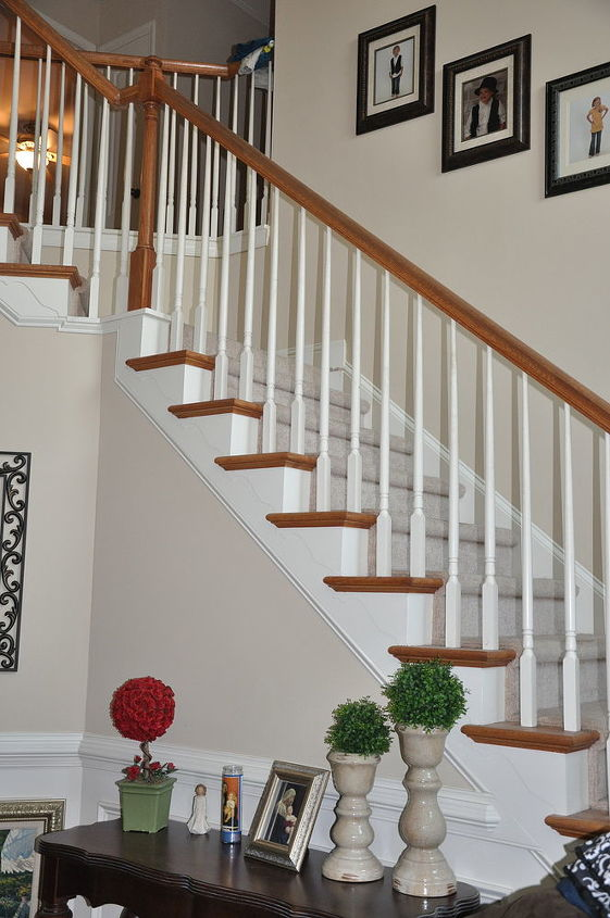 what the stairs look like now.