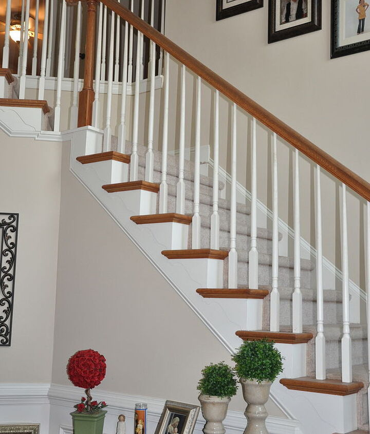 q painting spindles black, painting, stairs