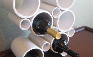 diy modern pvc pipe wine rack, repurposing upcycling, storage ideas