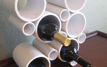 diy modern pvc pipe wine rack, repurposing upcycling, storage ideas