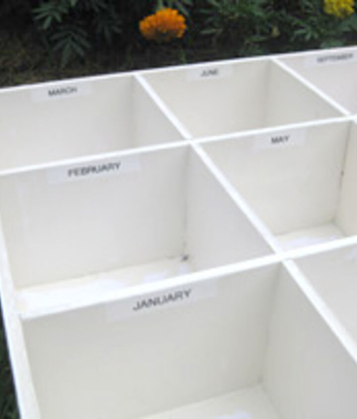 Labeled storage sections. (Photo by Greg Holdsworth.)