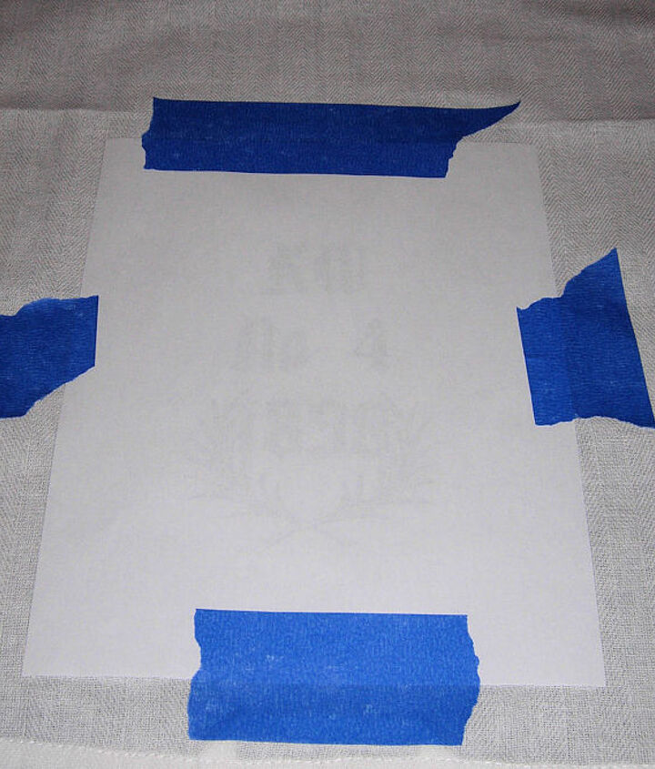 tutorial make a grain sack towel with the citra solv transfer method, crafts