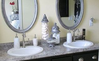 our bathroom remodels 2013, bathroom ideas, home improvement, AFTER Master bath new counters new sinks new faucets Whole new feel
