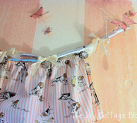 Diy Tree Branch Curtain Rod, Home Decor, Another View Of The Branch Curtain  Rod