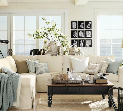 Living room decor ideas hometalk - Cool pottery barn living room designs ...