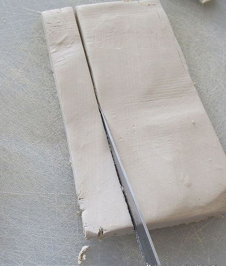 Use your knife to cut out long rectangles and shape the ends into points so they will easily go into the soil.