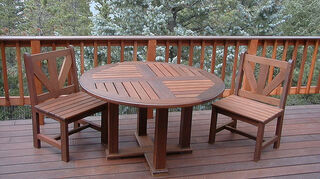 can i use wood chairs outdoors, outdoor furniture, outdoor living, painted furniture, Ipe patio set