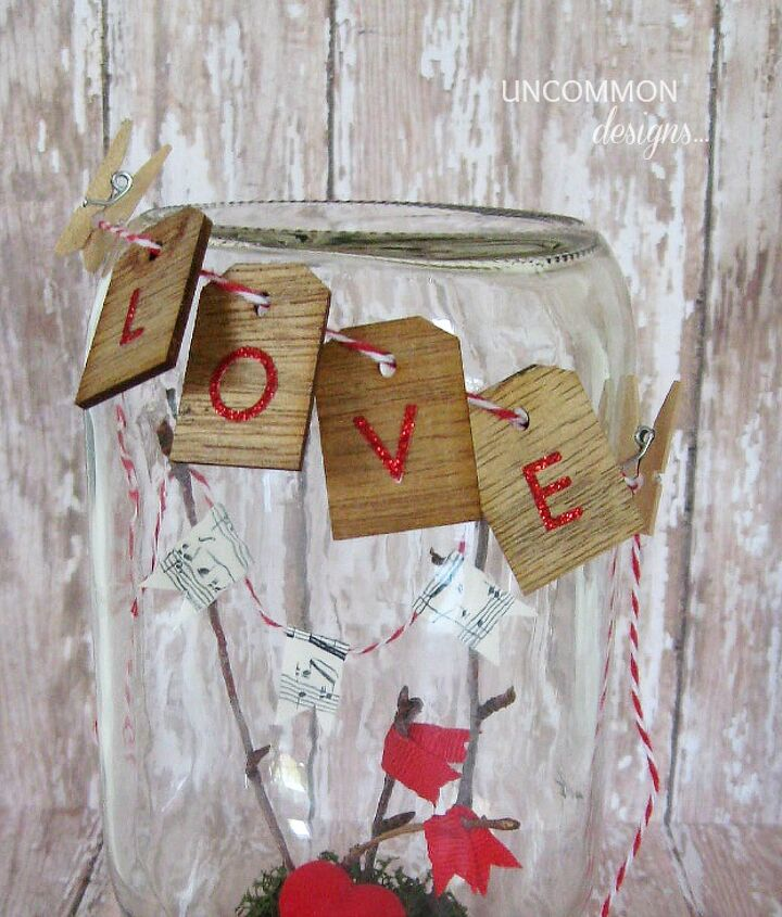 valentine mason jar craft, crafts, mason jars, seasonal holiday decor, valentines day ideas