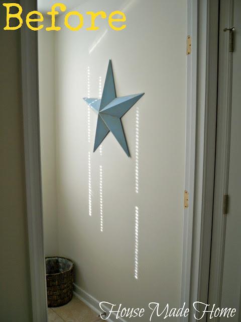 diy craftsman style wall molding using leftover 1 2 mdf, bathroom ideas, home decor, wall decor
