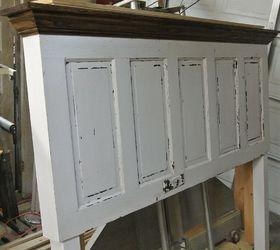 Attirant 5 Panel 90 Yr Old Door Converted Into A King Size Door Headboard, Doors,