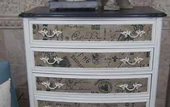 dresser with fabric inlay, chalk paint, painted furniture, I love the texture this fabric adds to this piece