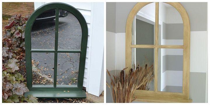 refurbished window mirror, crafts, home decor, repurposing upcycling