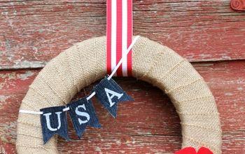 diy memorial day wreath, crafts, seasonal holiday decor, wreaths