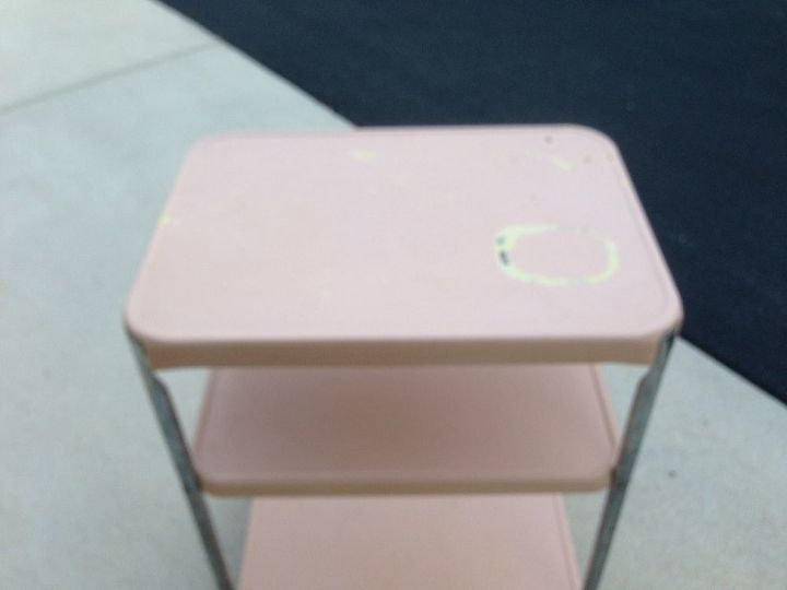 new old 1950 s cosco cart, painted furniture, repurposing upcycling