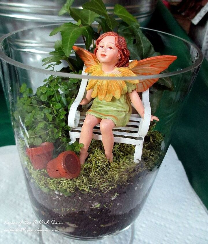 Tiny summer fairy with her own wee garden.