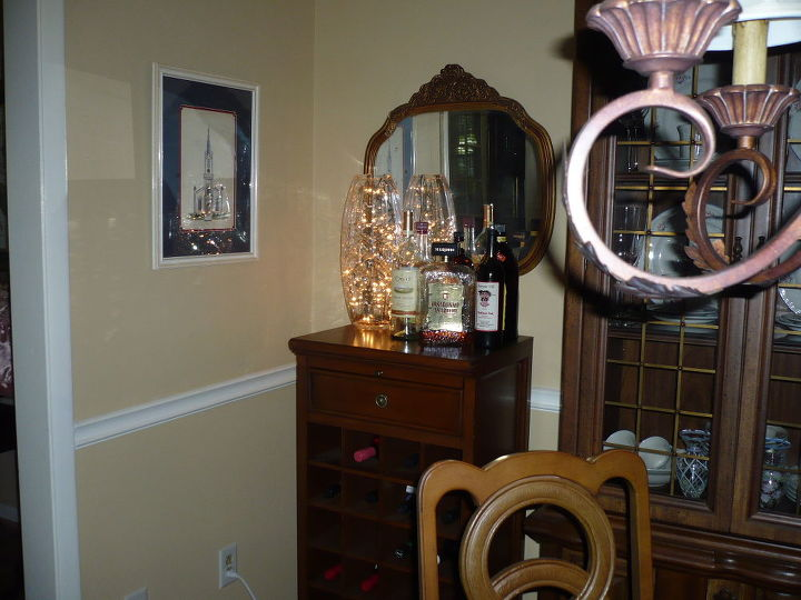 chandelier in a vase, home decor