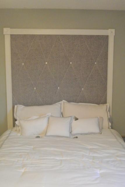 wall headboard, bedroom ideas, diy, home decor, repurposing upcycling, reupholster