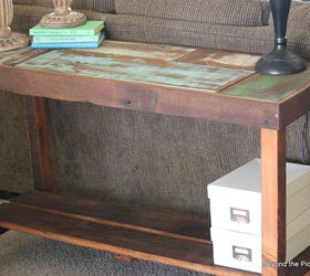 High Quality Reclaimed Scrap Wood Sofa Table, Diy, How To, Painted Furniture,  Woodworking Projects