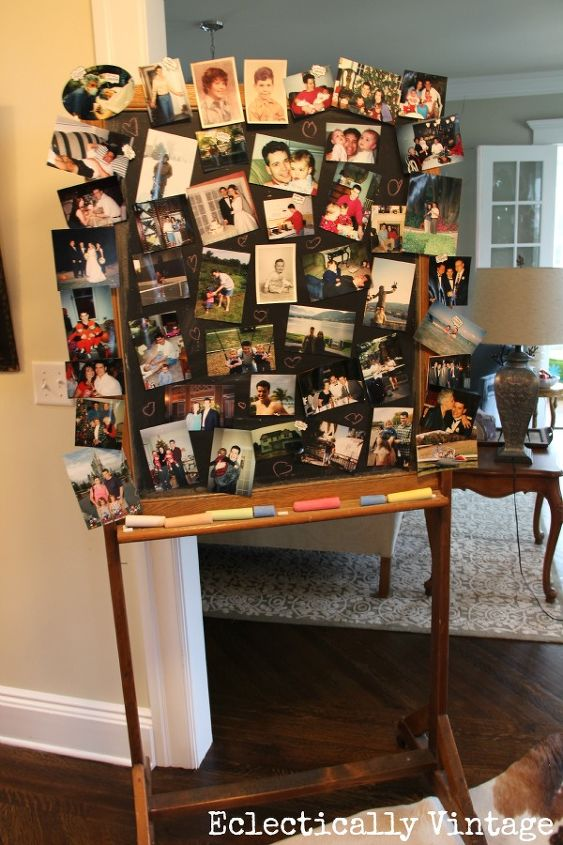 5) Simple Decorations - a fun touch for this milestone birthday includes a picture walk down memory lane